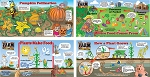 The Farm Scene Education Banners (Set of 4 Banners)